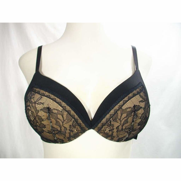 Calvin Klein QF1941 CK Black Obsess Push Up Plunge UW Bra 34B Black NWT - Better Bath and Beauty