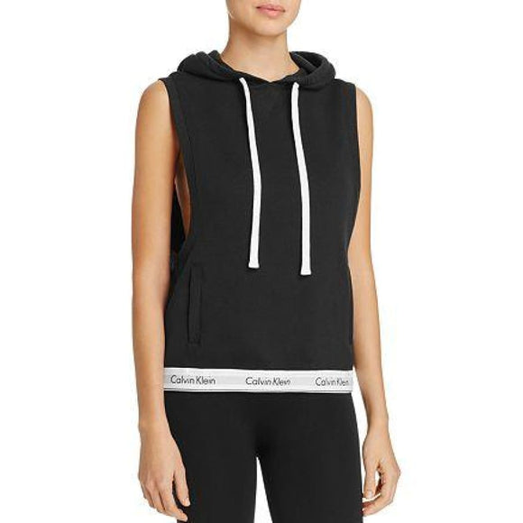 Calvin Klein QS5670 Sleeveless Lounge Hoodie XL X-LARGE Black NWT - Better Bath and Beauty