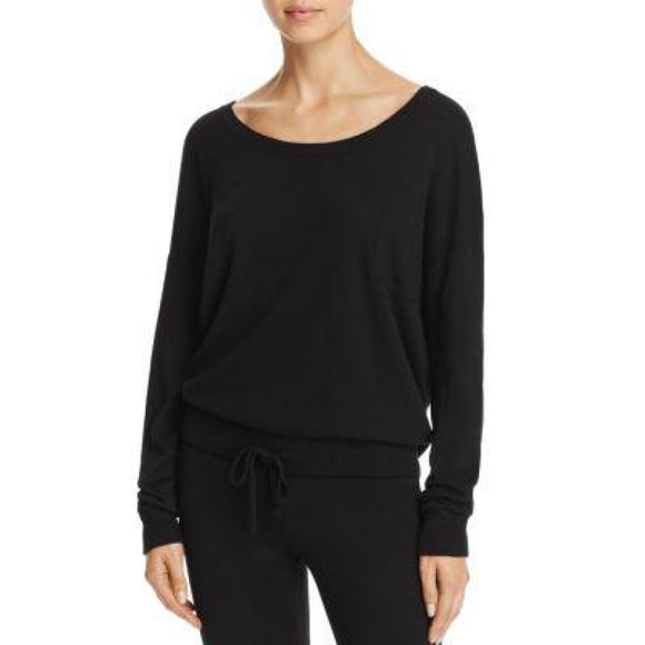 Calvin Klein QS5730 Pure Knits Long Sleeve Lounge Top LARGE Black NWT - Better Bath and Beauty