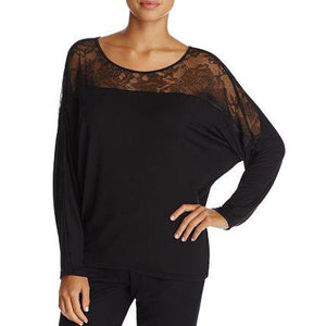 Calvin Klein QS5811 Decadence Wide Neck Lounge Top SMALL Black NWT - Better Bath and Beauty