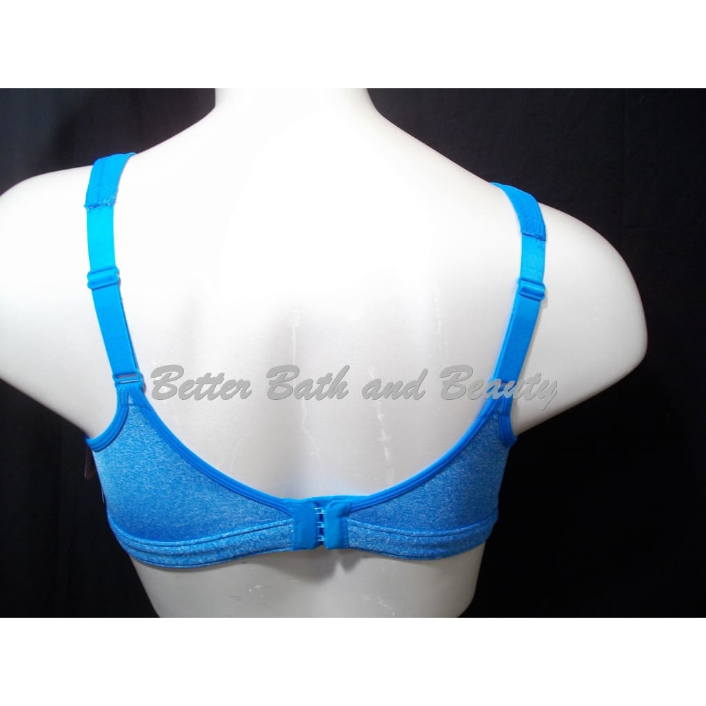 1bc3fabc58321 ... Champion 1602 Spot Comfort Full Support Wire Free Sports Bra 38D Blue  NWT New with Tags
