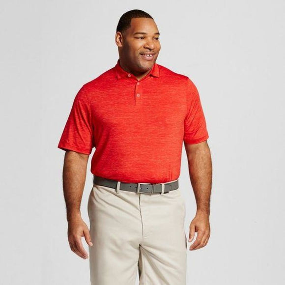 Champion C9 12068A Mens Big & Tall Spacedye Golf Polo 2XB Scarlet Red NWT - Better Bath and Beauty