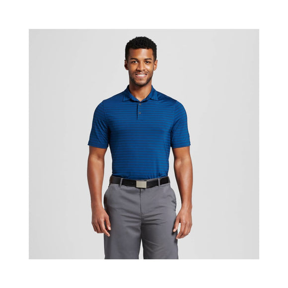 Champion C9 12087 Men's Stripe Golf Polo SMALL Dark Knight Blue Stripe NWT - Better Bath and Beauty