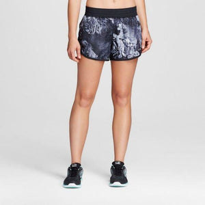 Champion C9 99009 Womens Woven Run Shorts with built in Panty Gray Floral XS X-SMALL - Better Bath and Beauty