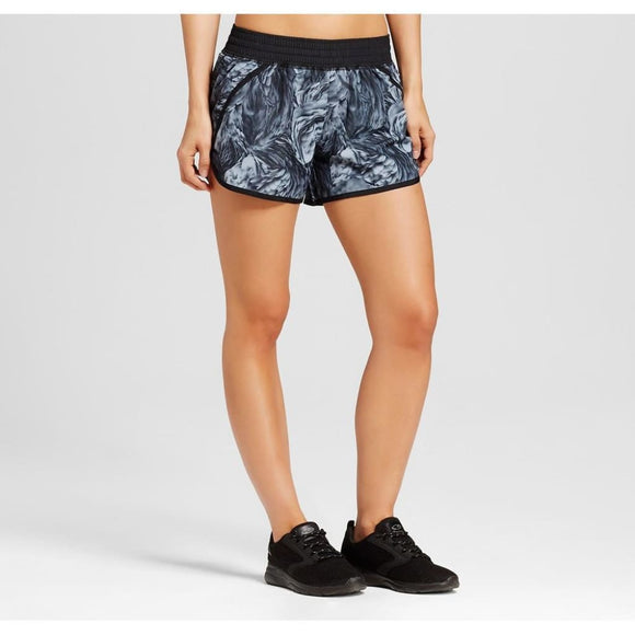 Champion C9 99150 Women's Run Shorts with built-in Panty 2XL XXL Gray Feathers Swirl - Better Bath and Beauty