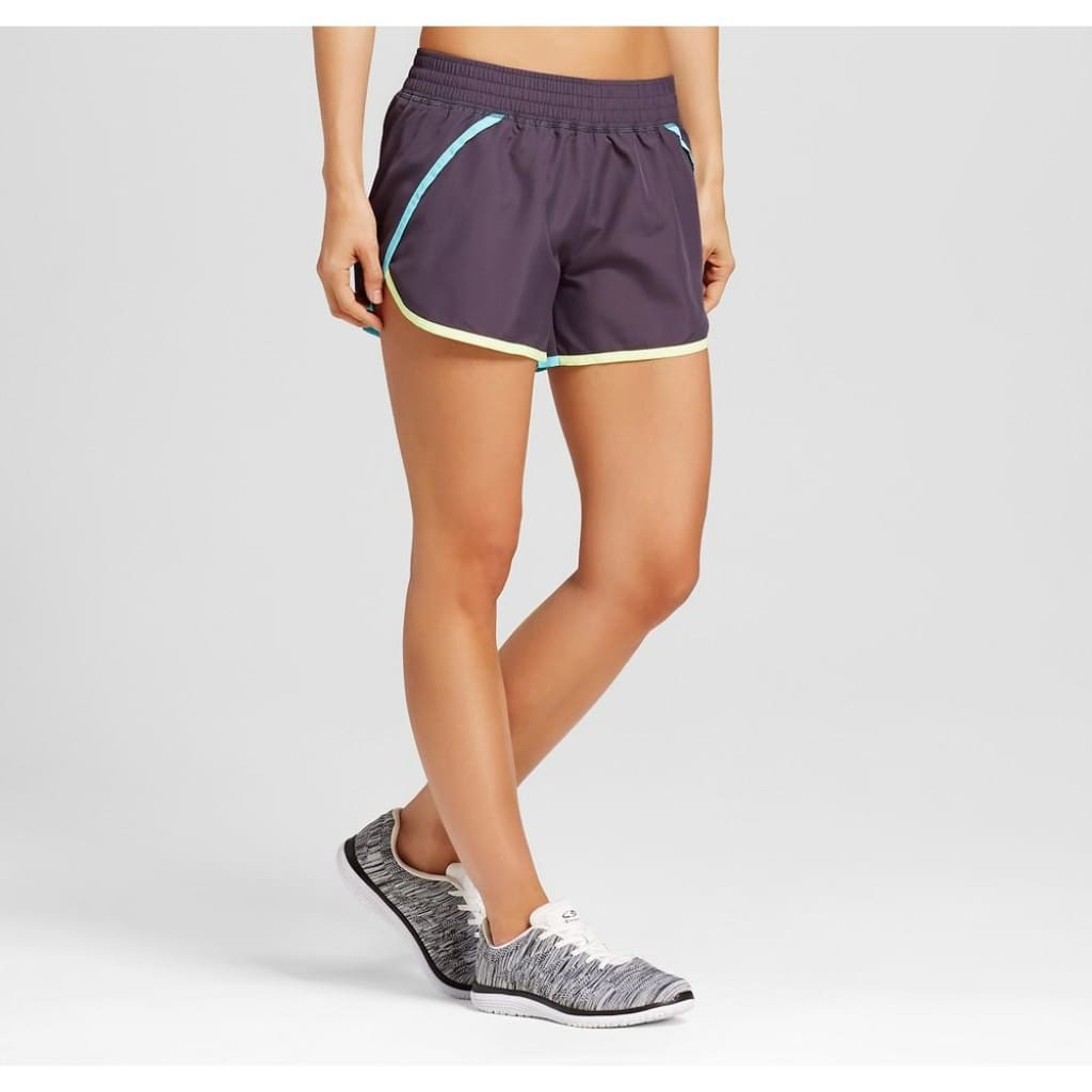 7f674ce9c634 Champion C9 99150 Women s Run Shorts with built-in Panty XS X-SMALL Dark ...