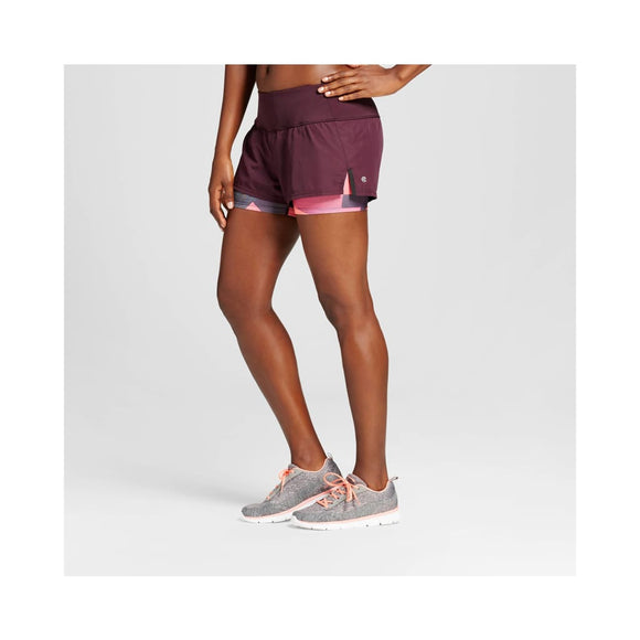 Champion C9 99190 Women's 2-in-1 Run Shorts XL X-LARGE Burgundy Blazer NWT - Better Bath and Beauty