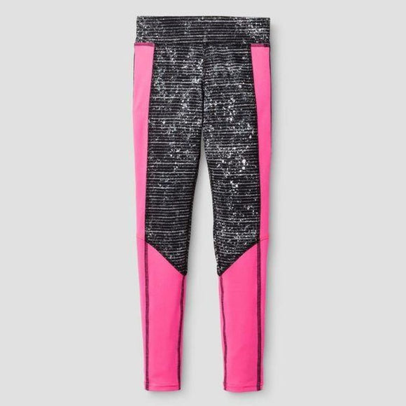 Champion C9 B9050 Girls Printed Performance Yoga Legging Large (10-12) Pink - Better Bath and Beauty