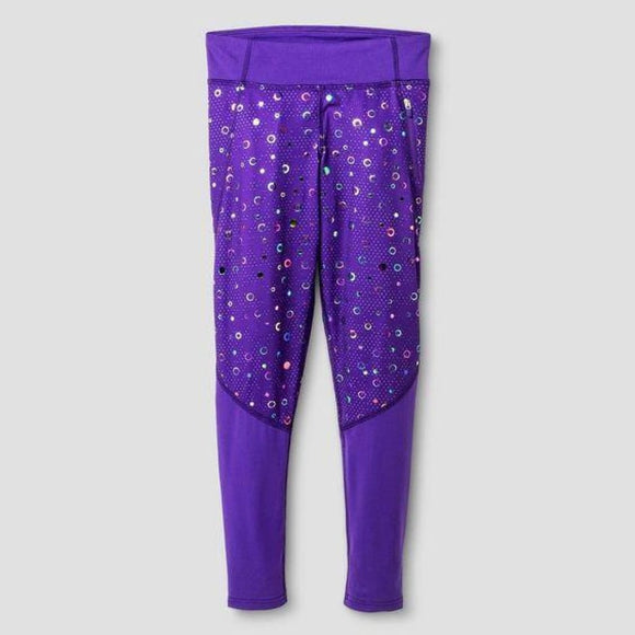 Champion C9 B9120 Girls Pieced Performance Legging X-Large (14-16) Purple - Better Bath and Beauty