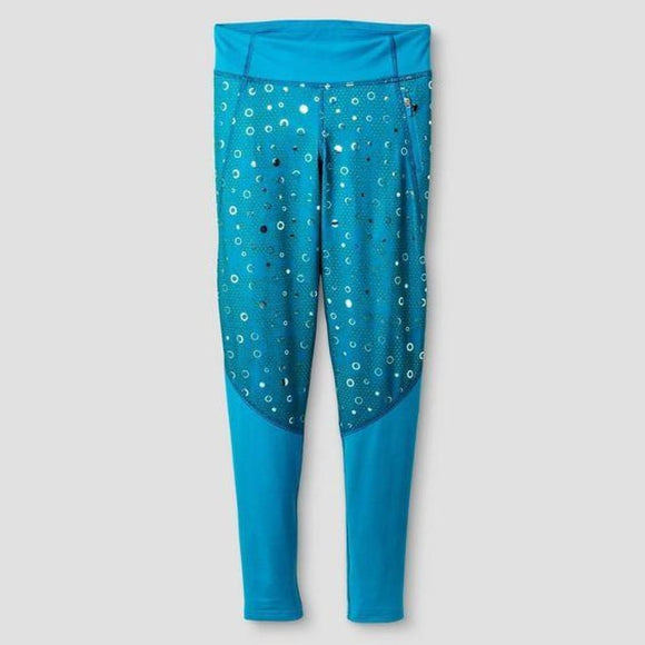 Champion C9 B9120 Girls Pieced Performance Legging X-Small (4-5) Blue - Better Bath and Beauty