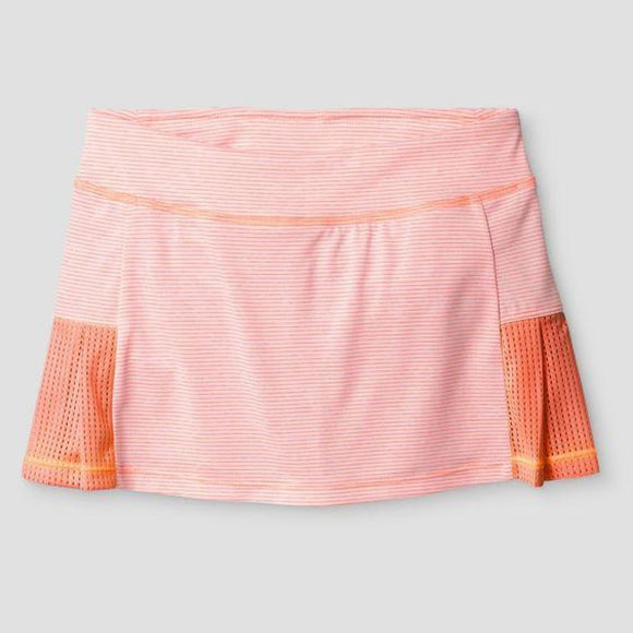 Champion C9 B9187 Girls Performance Skort L (10-12) Coral Stripe NWT - Better Bath and Beauty