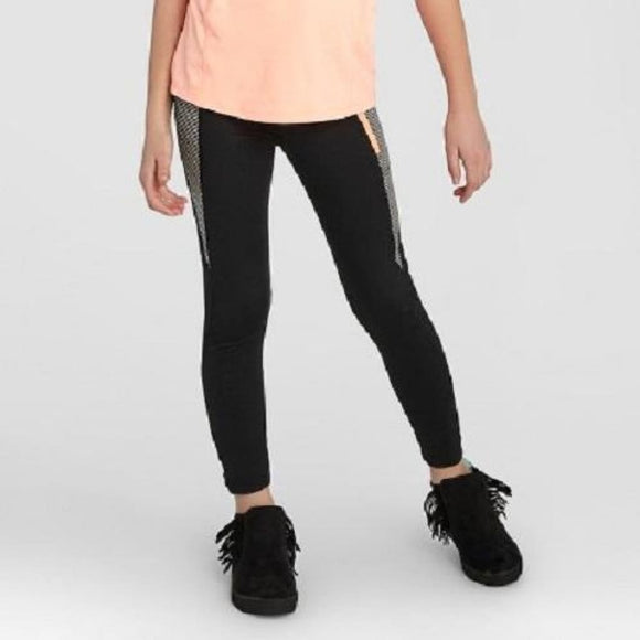 Champion C9 B9189 Girls' Premium Striped Performance Legging X-Small (4-5) Black - Better Bath and Beauty