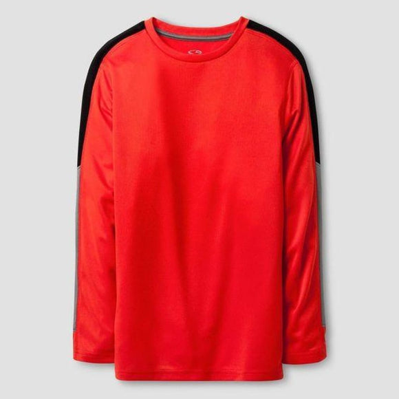 Champion C9 K9023 Long Sleeve Tech T-Shirt XS (4-5) Red & Black NWT - Better Bath and Beauty