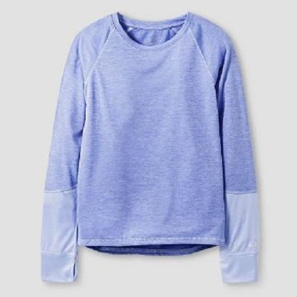 Champion C9 K9031 Girls Long Sleeve Tech T-Shirt XS X-SMALL (4-5) Lavender NWT - Better Bath and Beauty