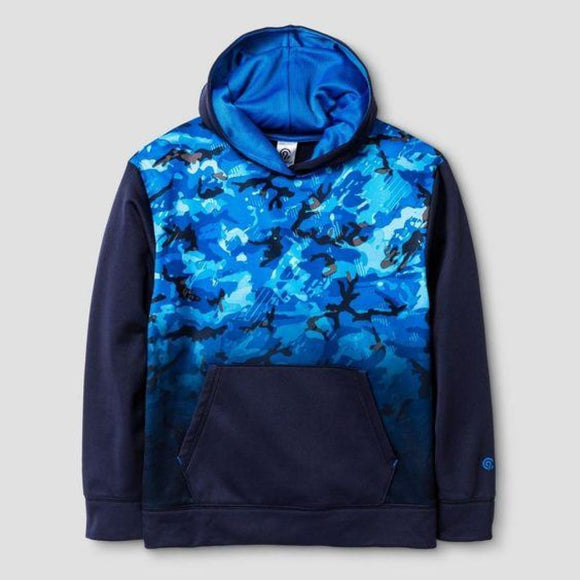 Champion C9 K9038 Boys Tech Fleece Navy Print XS (4-5) Black Blue Graphic NWT - Better Bath and Beauty