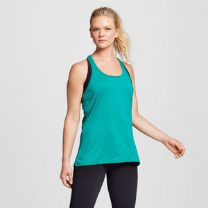 Champion C9 K9093 Womens Activewear Long Tank Top MEDIUM Underwater Blue NWT - Better Bath and Beauty