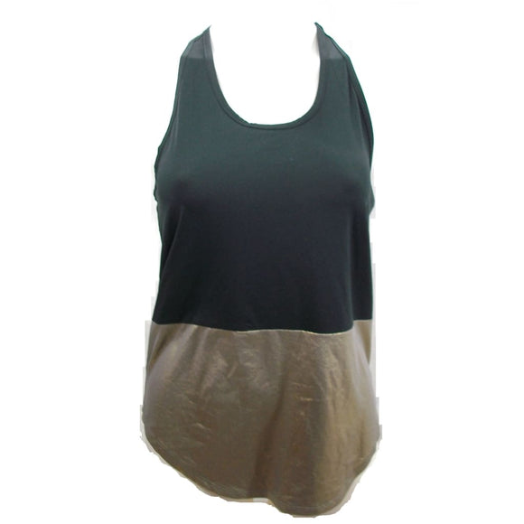 Champion C9 K9102 Womens Blocked Tank Top Metallic Gold X-SMALL NWT - Better Bath and Beauty