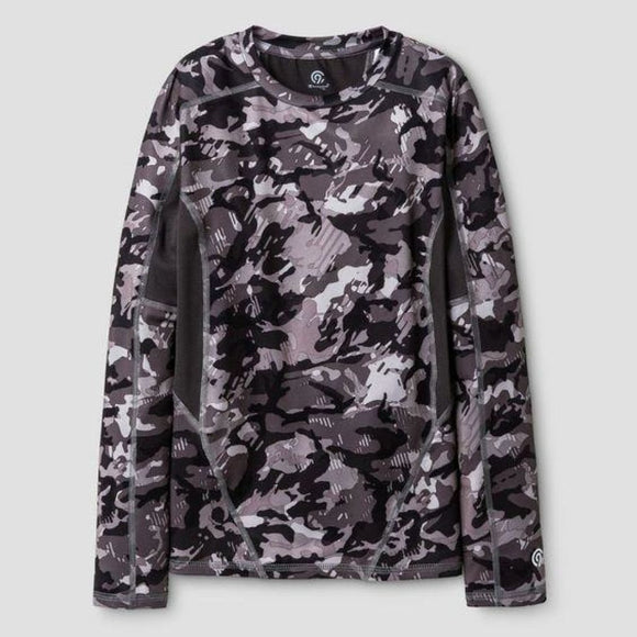 Champion C9 K9147 Boys Long Sleeve Compression Shirt XS (4-5) Gray Camouflage - Better Bath and Beauty