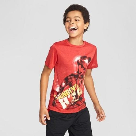 Champion C9 K9149 Boys Graphic Tech T-Shirt Red XS (4-5) Red Bring The Heat - Better Bath and Beauty