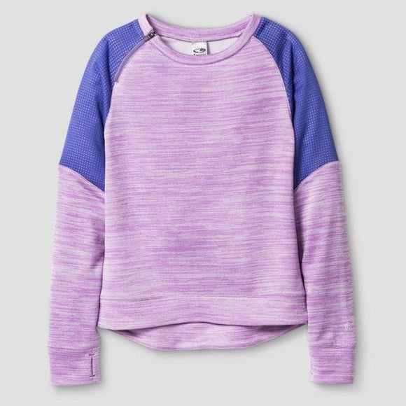 Champion C9 K9157 Girls Spring Fleece Pullover M (7-8) Lavender - Better Bath and Beauty