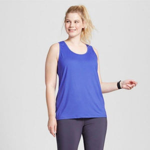 Champion C9 K9173 PLUS SIZE Womens Performance Fitted Tank Top 2X Steel Blue NWT - Better Bath and Beauty