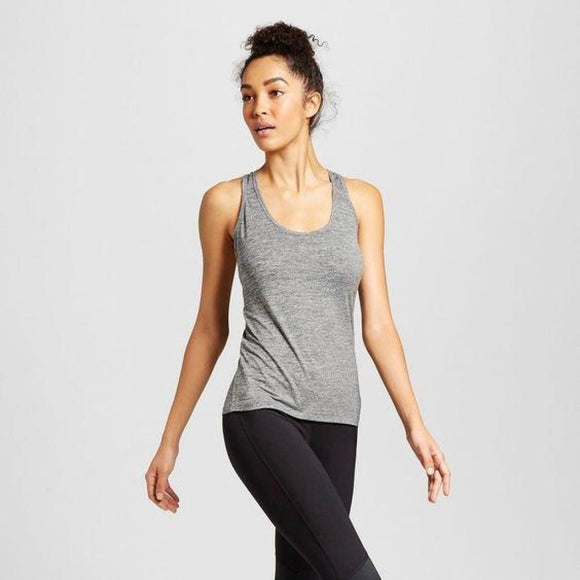 Champion C9 K9173 Women's Performance Fitted Tank Top XS X-SMALL Black Heather - Better Bath and Beauty