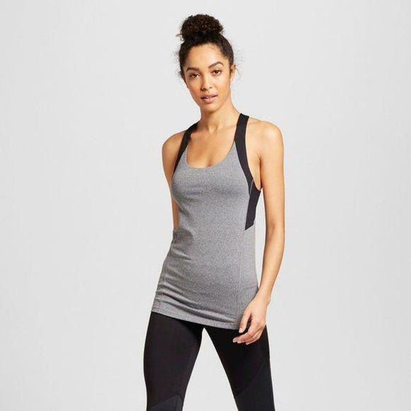Champion C9 K9176 Womens Embrace Fitted Tank Top LARGE Gray & Black NWT - Better Bath and Beauty