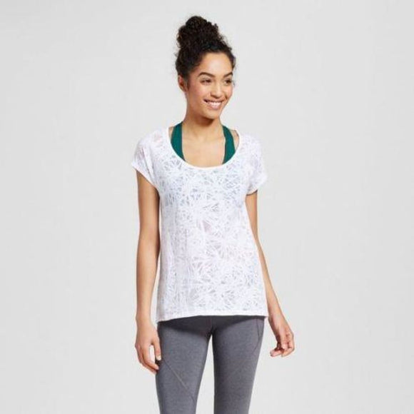 Champion C9 K9180 Women Burnout Layering Top MEDIUM White NWT - Better Bath and Beauty