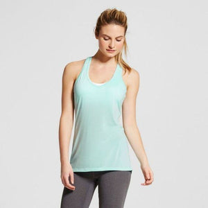 Champion C9 K9191 Womens V-Neck Tank Top SMALL Blue Mist NWT - Better Bath and Beauty