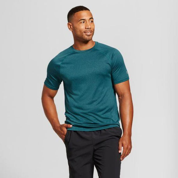 Champion C9 K9225 Men's Tech T-Shirt SIZE Small Jeweled Jade Heather NWT - Better Bath and Beauty