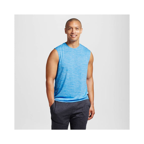 Champion C9 K9233 Men's Sleeveless Tech T-Shirt LARGE Hydro Blue Heather NWT - Better Bath and Beauty
