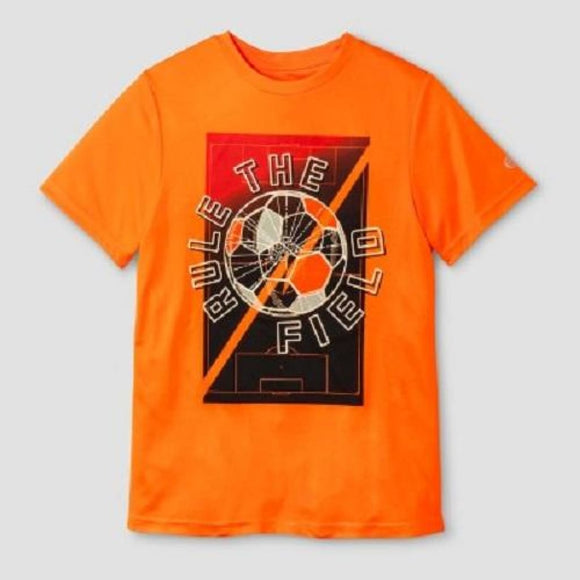Champion C9 K9234 Boys Graphic Tech T-Shirt L (12-14) Orange RULE THE FIELD - Better Bath and Beauty