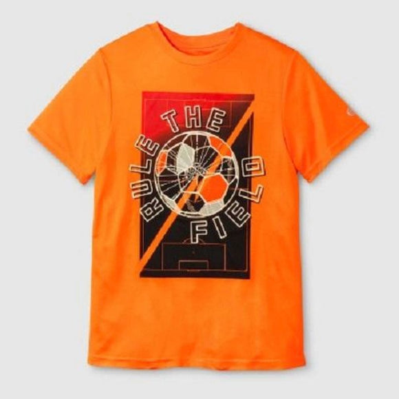 Champion C9 K9234 Boys Graphic Tech T-Shirt S (6-7) Orange RULE THE FIELD NWT - Better Bath and Beauty