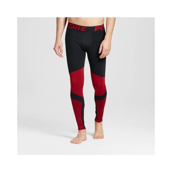 Champion C9 Men's Speed Knit Power Core Compression Tights SMALL Ripe Red Black - Better Bath and Beauty
