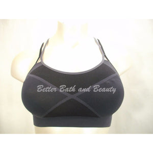 Champion C9 N9647 Strappy Back Wire Free Sports Bra X-SMALL Black & Gray NWT - Better Bath and Beauty