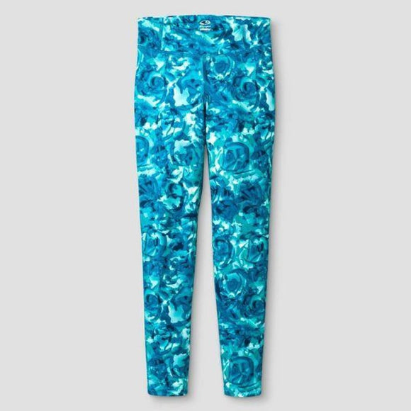 Champion C9 P9913 Girls Printed Performance Yoga Legging X-Small (4-5) Turquoise - Better Bath and Beauty