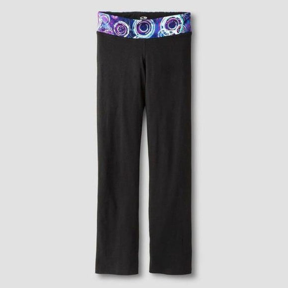 Champion C9 P9915 Girls Performance Sports Legging Pants S (6-6X) Black Purple - Better Bath and Beauty
