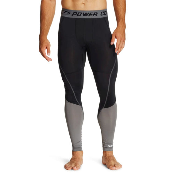 Champion C9 P9956 Men's Premium Power Core Compression Tights SMALL Black Thundering Gray - Better Bath and Beauty