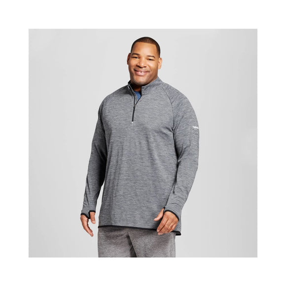 Champion C9 Quarter 1/4 Zip Layer Shirt BIG & TALL Size 3XB TALL Railroad Gray - Better Bath and Beauty