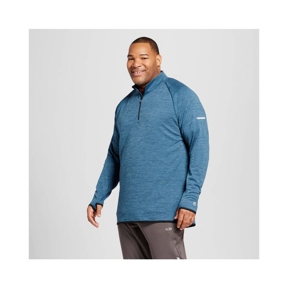 Champion C9 Quarter 1/4 Zip Layer Shirt BIG & TALL Size 3XB TALL Teal Regatta - Better Bath and Beauty