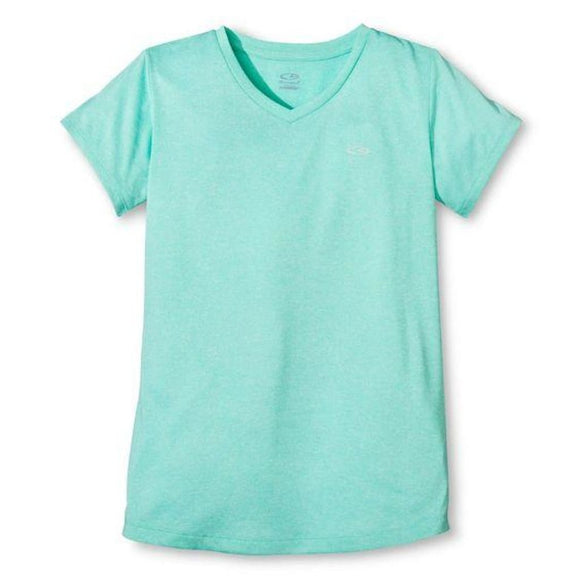 Champion C9 S9642 Girls Heather Tech T-Shirt Spring Forward S (6-6X) Green NWT - Better Bath and Beauty