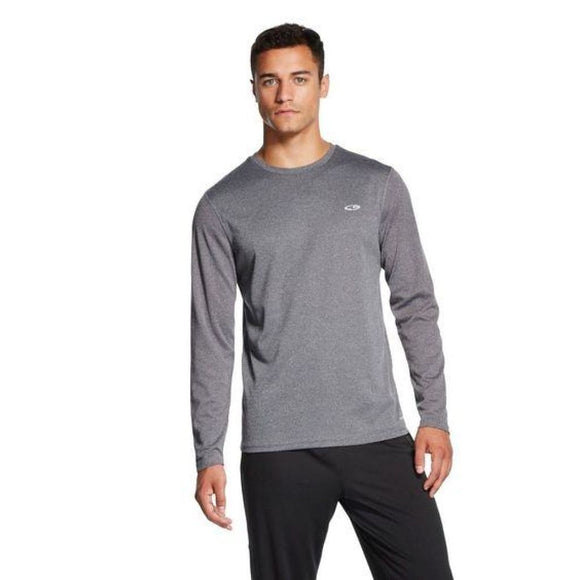 Champion C9 S9880 Mens Long Sleeve Tech T-Shirt SMALL Charcoal Heather - Better Bath and Beauty