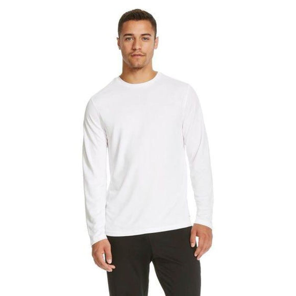 Champion C9 S9880 Mens Long Sleeve Tech T-Shirt SMALL True White - Better Bath and Beauty