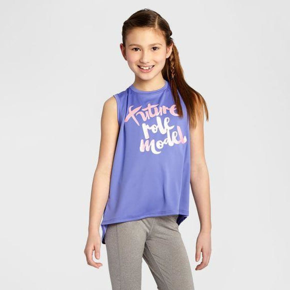 Champion C9 S9968 Girls Graphic Muscle Tank XL (14-16) FUTURE ROLE MODEL Lavender Purple - Better Bath and Beauty