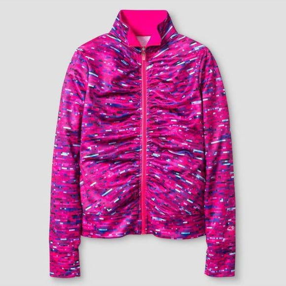 Champion C9 V9449 Girls Performance Jacket LARGE (10-12) Pink Pixel NWT - Better Bath and Beauty