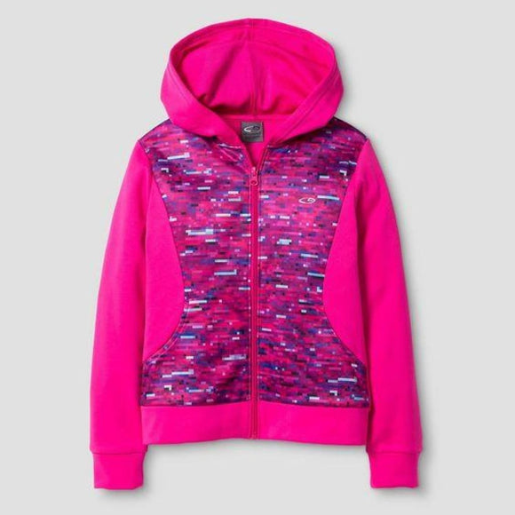 Champion C9 V9519 Girls Activewear Hoodie Sweatshirt Wow Pink XS (4-5) Pixel Pink NWT - Better Bath and Beauty