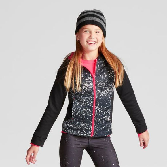 Champion C9 V9519 Girls Activewear Hoodie Sweatshirt XS (4-5) Black & Pink NWT - Better Bath and Beauty