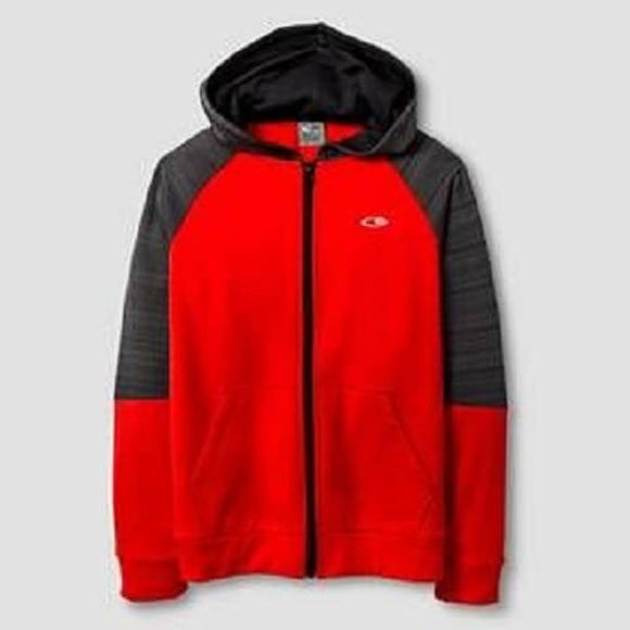 Champion C9 V9523 Boys Tech Fleece Full Zip Hoodie XS (4-5) Red & Black NWT - Better Bath and Beauty