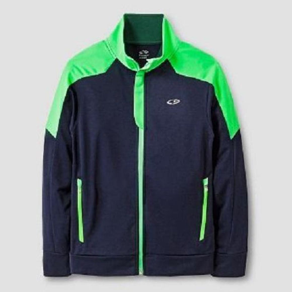 Champion C9 V9566 Boys Performance Full Zip Jacket Navy & Green LARGE (12-14) NWT - Better Bath and Beauty