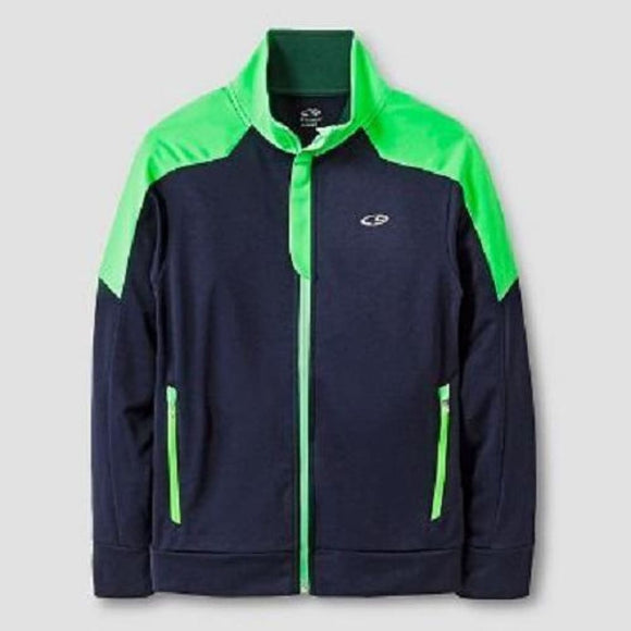 Champion C9 V9566 Boys Performance Full Zip Jacket Navy & Green SMALL (6-7) NWT - Better Bath and Beauty